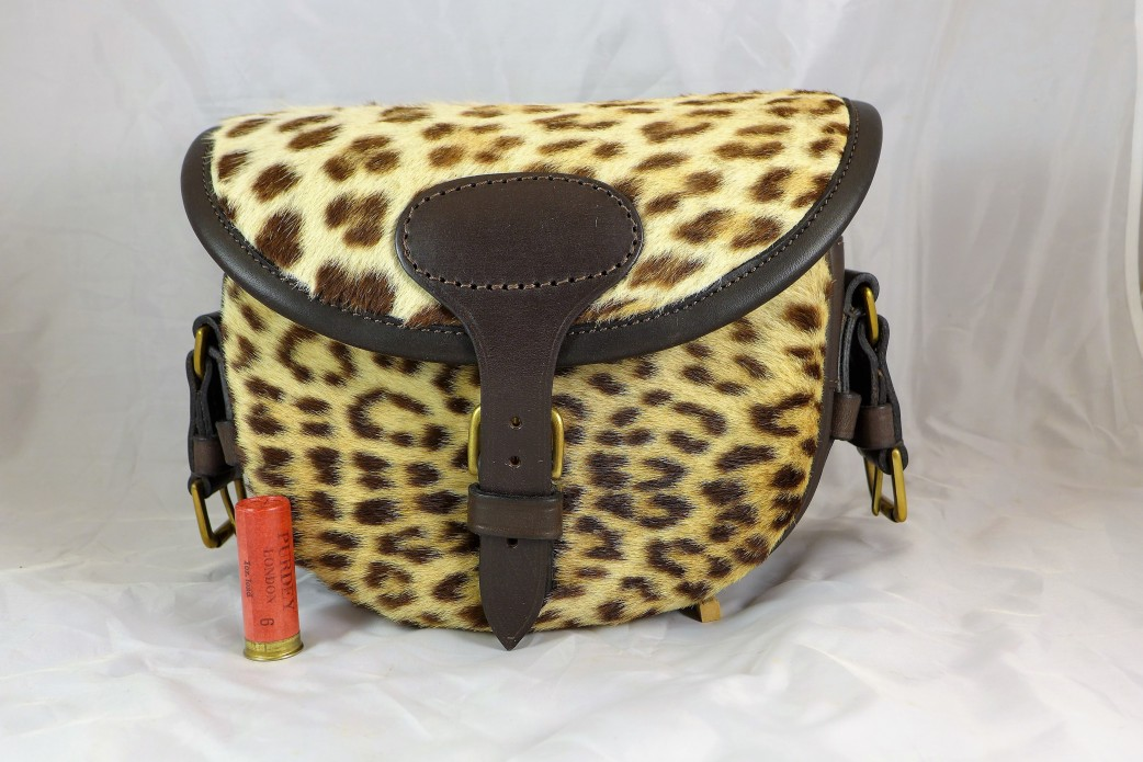 Leopard Print Pony Skin Clutch Bag