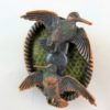 Bronze Woodcock Pin Feather Brooch