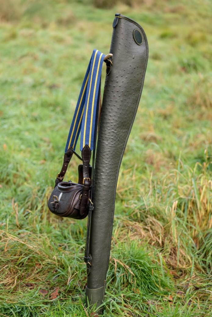 Shagreen Bag and Ostrich Slip