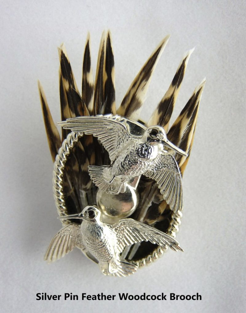 Silver Pin feather Brooch