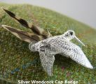 Silver Woodcock Cap Badge