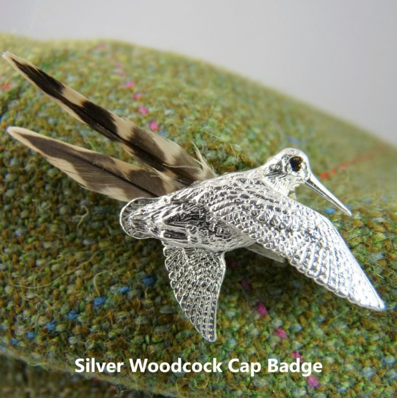 Silver Woodcock Cap Badge