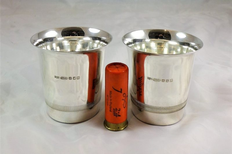 Solid Silver Vintage Champagne Cups (2)