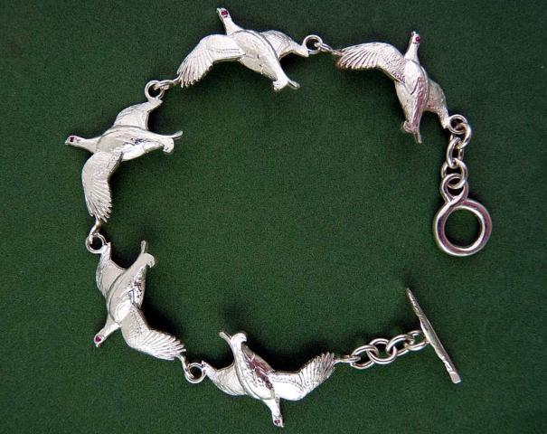 5 Blackcock Silver Bracelet