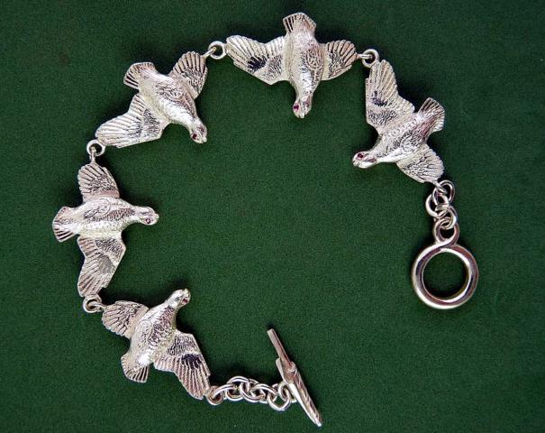 5 Partridge Silver Bracelet