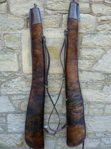 Pair of Normandy cowhide slips