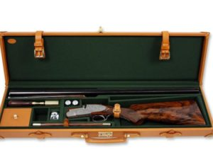 Single leather gun case