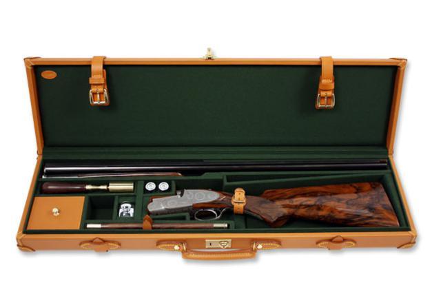 Single leather gun case