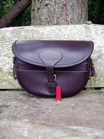 Cartridge Bag in Dark Havana leather -250 Size