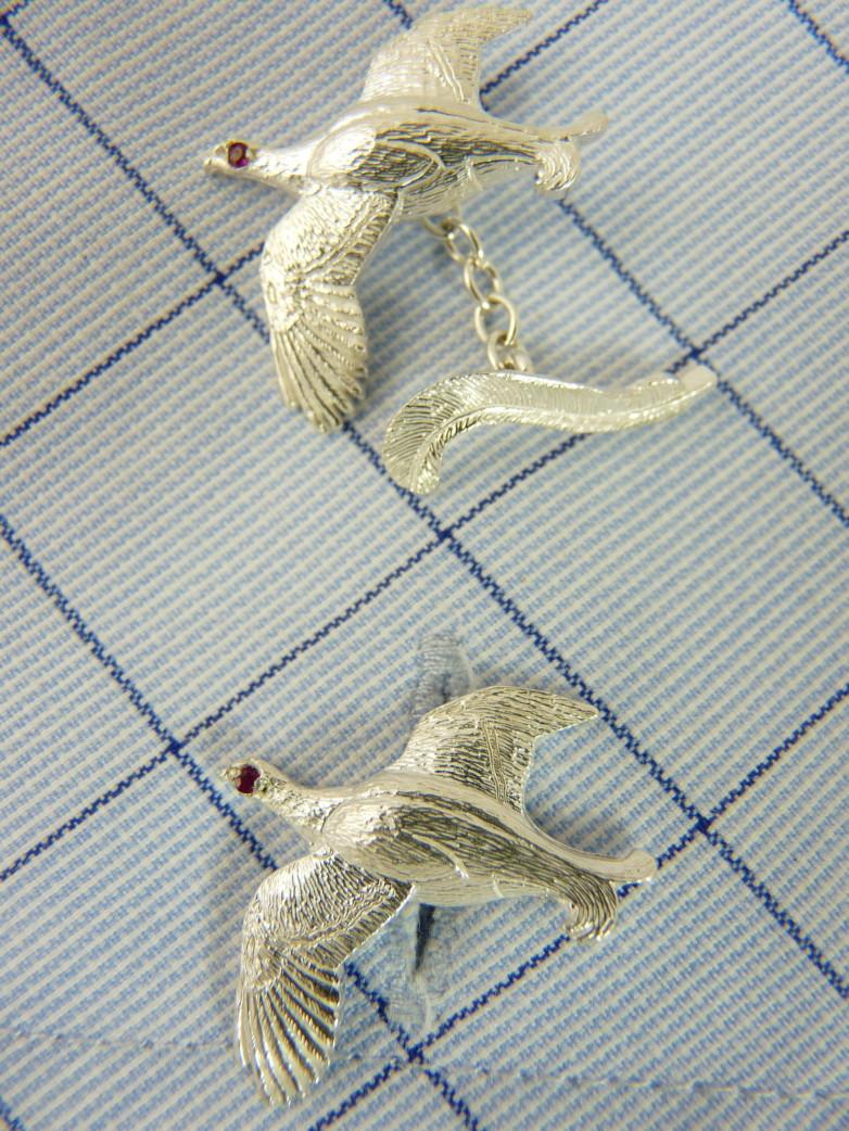 Blackcock Silver Cufflinks