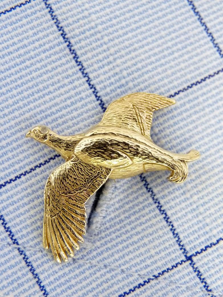 Blackcock Gold Cufflinks
