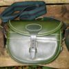 Green Cowhide 100 Size Cartridge Bag