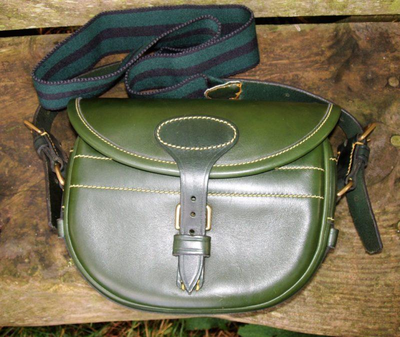 Green Cowhide 100 Size Cartridge Bag