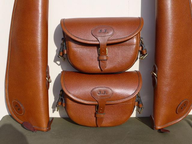 Scotch Grain Conker Cartridge Bag and Gunslip. Conker Leather Cartridge Bag
