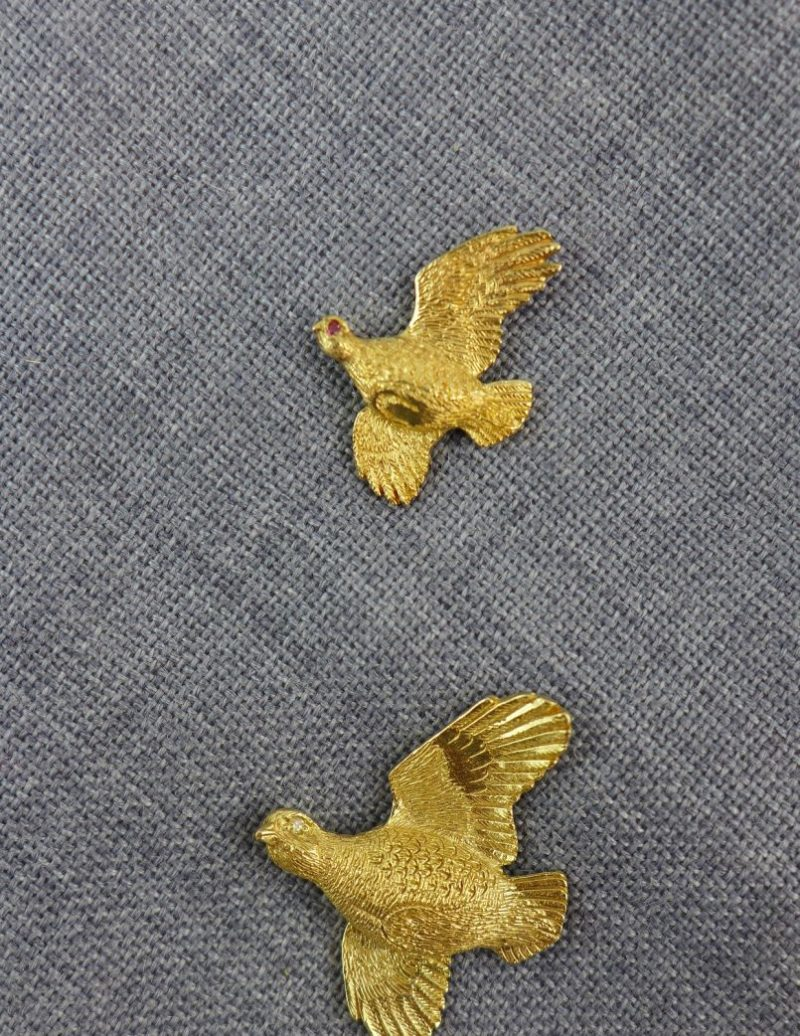 Gold Small & Large Partridge