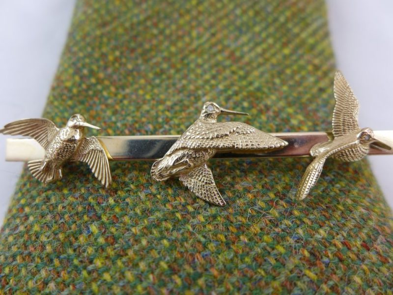 Gold Woodcock Tie Pin or Brooch