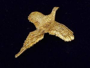 Gold Pheasant Brooch