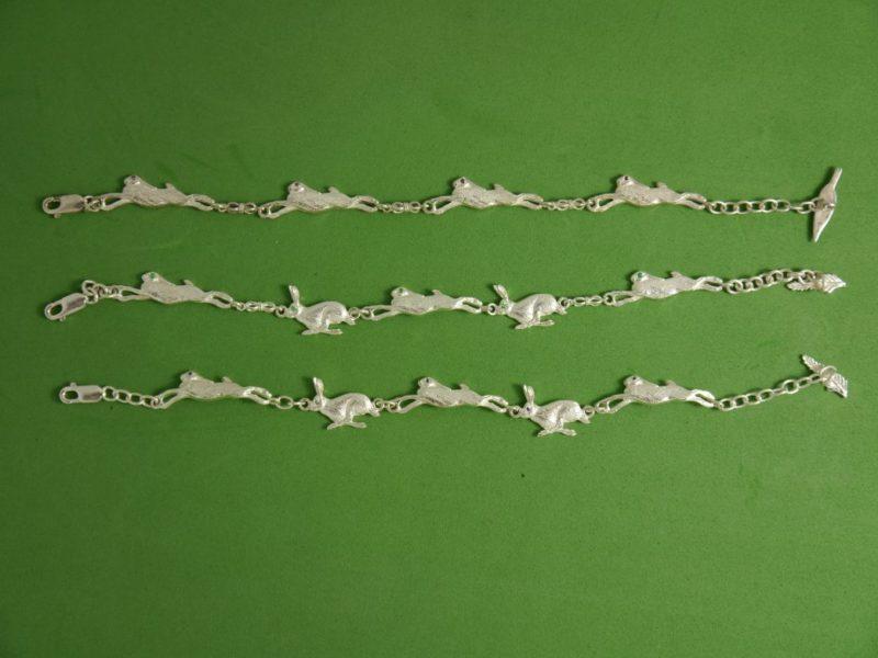 silver-running-hare-bracelets