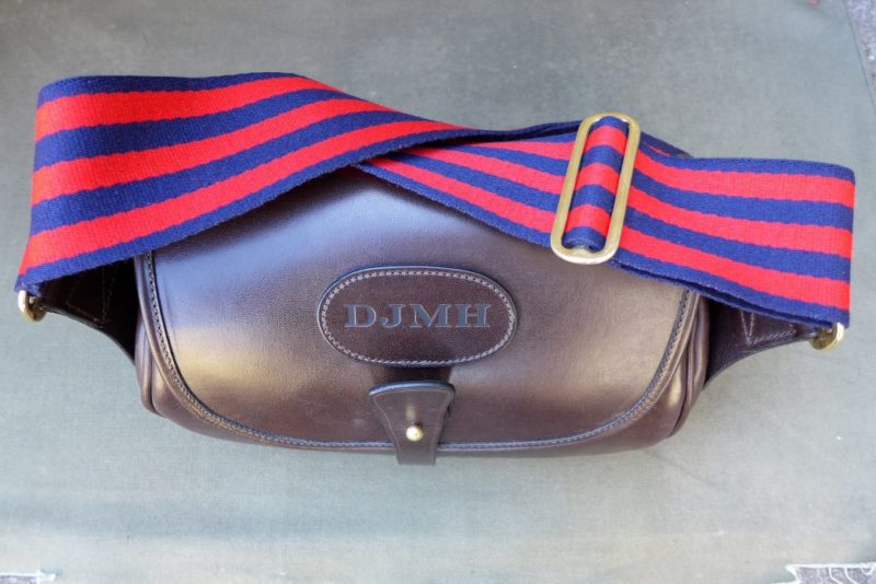 Northumberland Bag with Red and Blue Webbing Strap