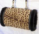 Ladies Leopard Skin Handmuff