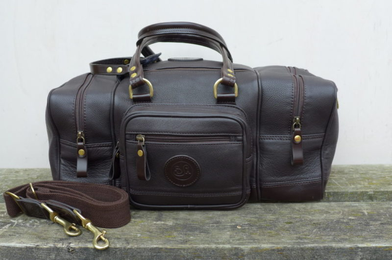 Chocolate Brown Leather Range Bag