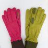 Pistachio and Magenta Gloves
